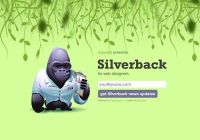 Page d'accueil du site Silverback